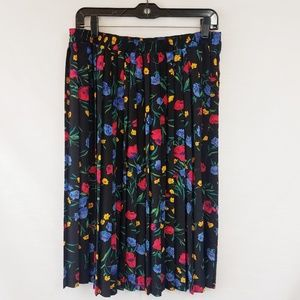Vintage Alfred Dunner Floral Pleated Skirt size 14